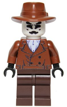 "Our custom LEGO ""The Watcher"" minifig inspired by Rorschach from The Watchmen. Available at www.MinifigFX.com"