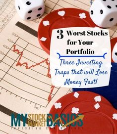 Three of the worst stocks for your portfolio. Investing traps that you absolutely must avoid if you want to make money in the stock market.