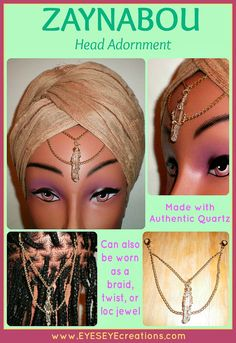ZAYNABOU Head Adornment  Loc Jewelry  Head by EYESEYEcreations, $27.00 Loc Jewelry, Loose Hairstyles, Wedding Hairstyles, Shades Of Gold, Sisterlocks, Locs, Custom Items, Antique Gold, Wedding Accessories