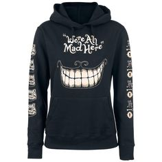 Mad Mouth - Trui met capuchon van Alice In Wonderland