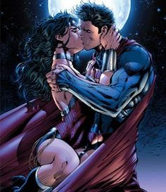Idk why but I will never see Wonder Woman and superman together maybe because I don't see Wonder Woman with anyone