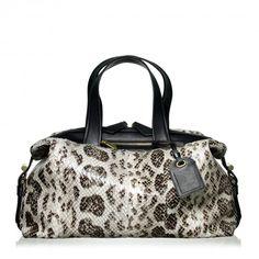 Atlas handbag in black-and-white anaconda.