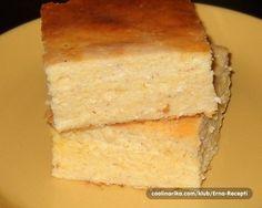 Sastojci 6 osoba 4 jaja oko 800 gr svježeg sira 1 kašičica soli 500 ml jogurta 4 kašike kiselog vrhnja 250 g finog kukuruznog brašna 1/2 vrećice praška za pecivo parče putera Priprema Odvojiti bjelanca od žumanaca. Sjediniti sir, žumanca, so i kiselo vrhnje, pa dobro umutiti. Dodati i jogurt. Zatim dodati kukuruzno brašno, pomiješano sa praškom za pecivo. Umutiti. Na kraju, pažljivo...