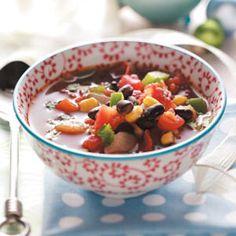 Southwest bean soup #Clean #blackbeans #soup #American