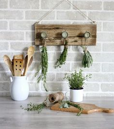 Preserving herbs.   Joanna Gaines