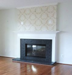 Acanthus and Acorn: Fireplace Makeover: Adding Style With Painted Brick and A New Mantel!