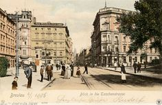 Ulica Piotra Skargi, widok w kierunku pl. Dominikańskiego. Lata 1900-1903