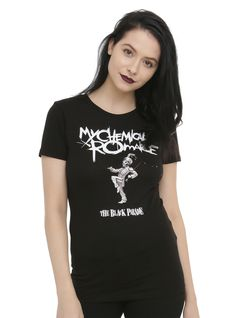 <p>Fitted black tee from My Chemical Romance with <i>The Black Parade</i> inspired design on front.</p>  <ul> 	<li>100% cotton</li> 	<li>Wash cold; dry low</li> 	<li>Imported</li> 	<li>Listed in junior sizes</li> </ul>