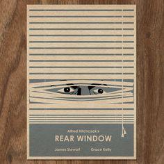 La ventana indiscreta de Alfred Hitchcock limitada edición impresión.  Este es…