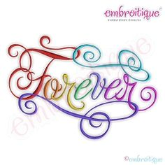 Forever Calligraphy Script, Small - 5 Sizes! | What's New | Machine Embroidery Designs | SWAKembroidery.com