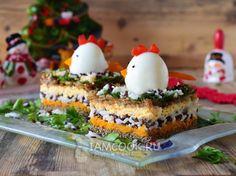 Печеночный салат «Петушок»