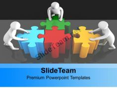 0313 Team Pushing Puzzle For Solution PowerPoint Templates PPT Themes And Graphics #PowerPoint #Templates #Themes