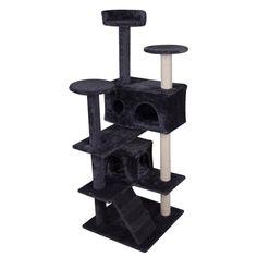 Walcut Cat Tree Condo Furniture Scratcher Post Play Toy Pet House Kitten Tower   - Cat Tree