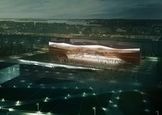 ALA Architects wins the Helsinki Central Library design competition and has designed a library with a mass of twisted timber.