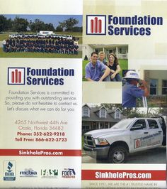 Sinkholepros At Foundation Services Of Central Florida With Over 150 Years Combined Experience And