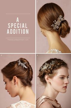 add a comb to any wedding updo for a little extra magic.