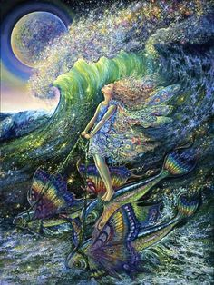 Surfer's Dream, by Josephine Wall