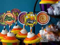 Cupcakes at a Halloween Party #Halloween #partycupcakes