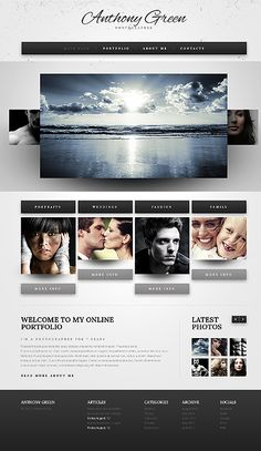 Template 39869 - Photographer HTML5 Website Template With Carousel Photo Gallery & Drop Down Menus