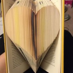 Book Folding Pattern - Heart + Free Instructions - Great for beginners Tips And Tricks, Graham, Old Book Crafts, Heart Outline, Book Folding Patterns, Bike Rider, Easy, Love Heart, Free