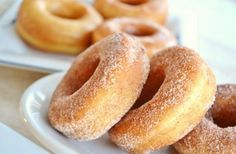 Learn how to make easy Sugar coated Doughnuts. Homemade delicious, fluffy doughnuts recipe with sugar coated. * Ingredients for Sugar coated doughnuts: *Flou. Easy Donut Recipe, Donut Recipes, Ww Recipes, Sweets Recipes, Indian Food Recipes, Easy Sweets, Quick Easy Desserts, Fun Desserts, Yeast Donuts