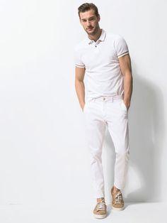 Dan Murphy for Massimo Dutti - white polo shirt