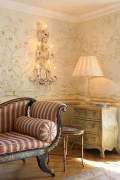 Décor Inspiration: Romantic Florals, Wallpaper by de Gournay