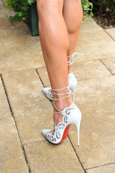 These Christian Louboutin 'Impera' pumps are stunning! (and I'd take the calves too!):