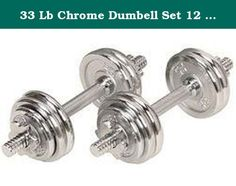 33 Lb Chrome Dumbell Set 12 Pieces, 8 of 2.5 Lbs and 4 of 1.25 Free Carrying . Dumbell work out helps a great deal in toning your muscles, thus shaping up your body. Not only it helps in making your body look beautiful, but also builds up your stamina for carrying out a high intensity workout.