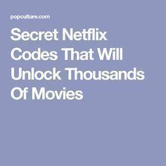 Secret Netflix Codes That Will Unlock Thousands Of Movies Netflix Movie Codes, Netflix Users, Netflix Hacks, Netflix Streaming, Free Tv And Movies, Good Movies On Netflix, Life Hacks Computer, Computer Help, Simple Life Hacks