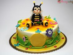 Bee Birthday Cake London Photo: This Photo was uploaded by pinkcakeland. Find other Bee Birthday Cake London pictures and photos or upload your own with. 50th Birthday Cake Designs, Birthday Cake Shop, Toddler Birthday Cakes, Best Birthday Cake Recipe, Image Birthday Cake, Birthday Cake Delivery, Happy Birthday Cake Images, Birthday Cake Pictures, 80 Birthday