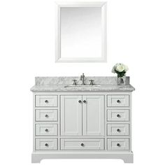 Home Decorators Collection Thornbriar 48 In W X 22 D 37 H Vanity Cement With Cultured Marble Top White Basin 2018