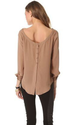 Haute Hippie Blouse with Back Slit