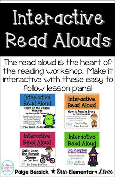Interactive Read Alouds are the heart of the reading workshop.  Reading your students engaging texts at their listening level can DRASTICALLY improve their reading comprehension.  These products include easy to follow lesson plans, sticky note printables and connection worksheets.