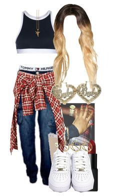 """""""8/8/14"""" by jasmineharper ❤ liked on Polyvore featuring T By Alexander Wang, Tommy Hilfiger, NARS Cosmetics, NIKE, ASOS, R13 and Retrò"""