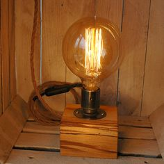 Block Lamp (Spalted Beech)
