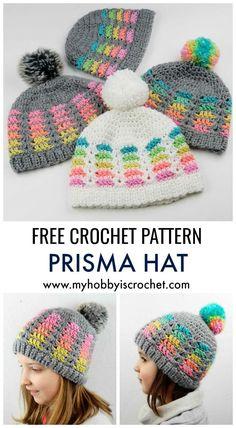 My Hobby Is Crochet: Prisma Hat - Free Crochet Pattern in multiple sizes