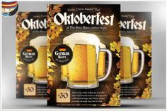Oktoberfest Flyer Template by FlyerHeroes on Creative Market - Design. Event Flyer Templates, Flyer Design Templates, Photography Flyer, Creative Flyers, Creative Design, Halloween Flyer, Club Flyers, Love Posters, Corporate Flyer