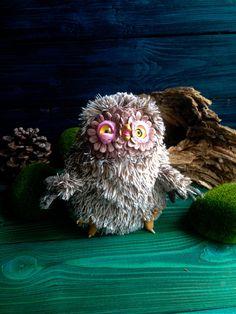 FANTASY PLUSH ANIMAL Crazy owl Owl Baby Creature Art Toy