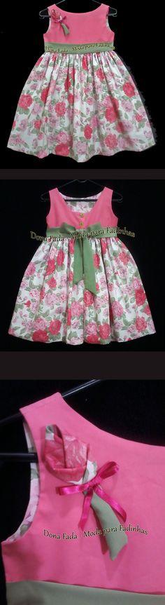 Vestido Floral Pink - 6-7 anos - - - - - baby - infant - toddler - kids - clothes for girls - - - https://www.facebook.com/dona.fada.moda.para.fadinhas/