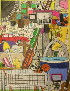 "Art Lesson Plan: Personal Identity Drawing (""Where's Waldo"")"