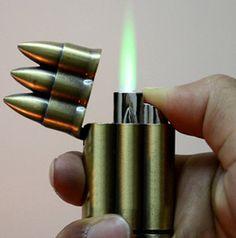 Unusual Cigaette Lighters | 2pcs/lot New Arrival Unique Bronze 3 Bullet flip top Cigarette lighter ...