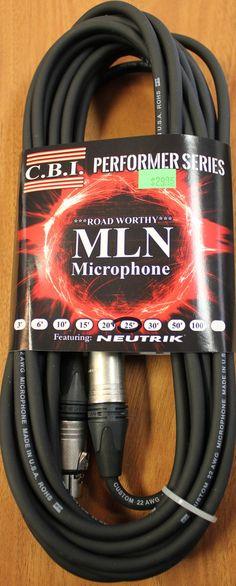 C.B.I MLN Performer Series 25' XLR Microphone Cable
