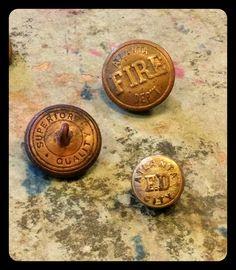 Atlanta Fire Department Brass Buttons ...