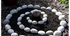 Spiral herb garden ~ any herbs I've ever grown would take this over and obliterate it .however I do love this idea for thymes and as a fun feature Herb Spiral, Spiral Garden, Veg Garden, Garden Beds, Lawn And Garden, Brick Garden, Rock Flower Beds, Garden Center Displays, Garden Animals