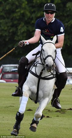 Here the prince shows off his polo prowess
