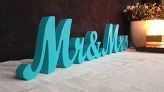 Tiffany Blue Sign Mr & Mrs Wedding decoration Mr and Mrs by SunFla, $25.00