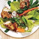 Spring Garden Salad with Chicken and Champagne Vinaigrette Recipe | MyRecipes.com