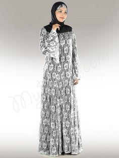 Beautiful White Flower Net Party Abaya !   Style No: Ay-283WH   Shopping Link : http://www.mybatua.com/beautiful-white-flower-net-abaya
