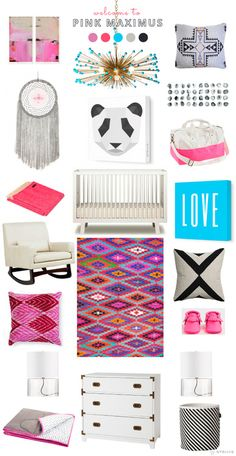 avalisa >> pink on pink for a power girl nursery